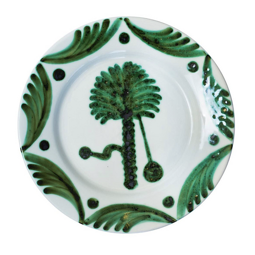 Green Palm Tree Plate
