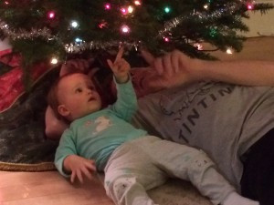 B under tree