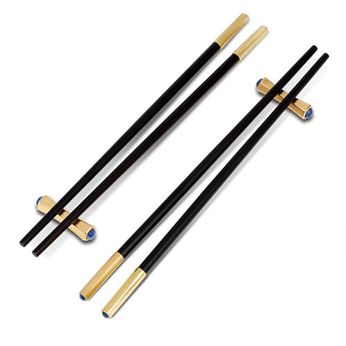Zen Chopsticks and Rests- Set of 2 Pairs