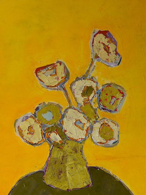 Yellow Flower Painting By Bill Tansey