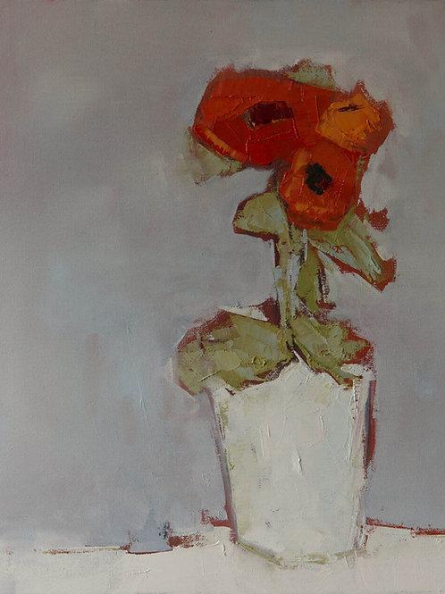 Three Orange Flowers by Bill Tansey