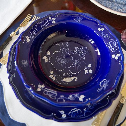 Este Ceramiche Blue Soup Plate