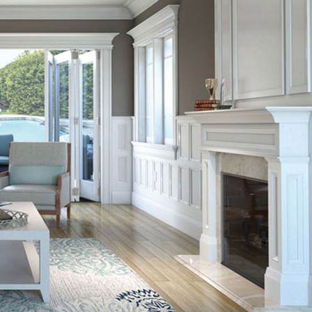 Mantlepiece and Wall Trim by Garden State