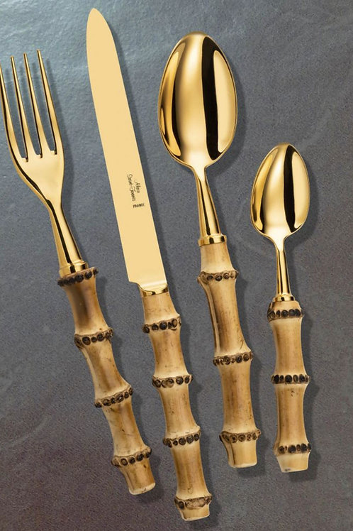 Gold Bamboo Flatware by Alain Saint Joanis