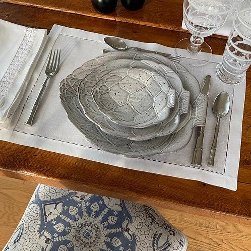 White Artichoke Bread Plates by Vista Alegre