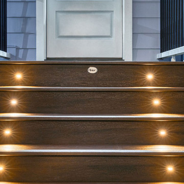 Lit Steps Made With Trex