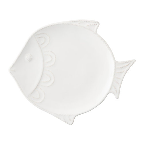 "White ""Fish"" Dessert/Salad Plate"