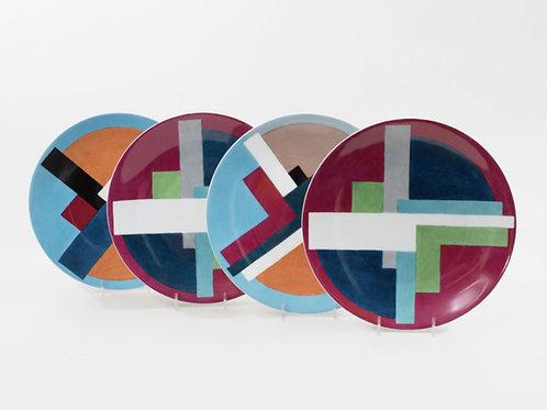 Phyllis Lampham Porcelain Plates- Set of 18