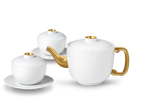 Zen Teapot and Two Covered Cups