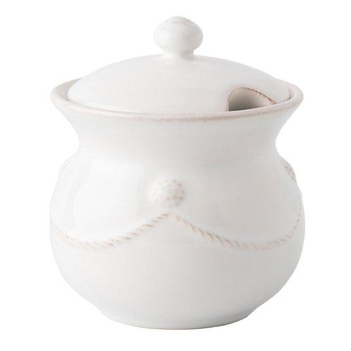 Berry and Thread Whitewash Sugar Pot
