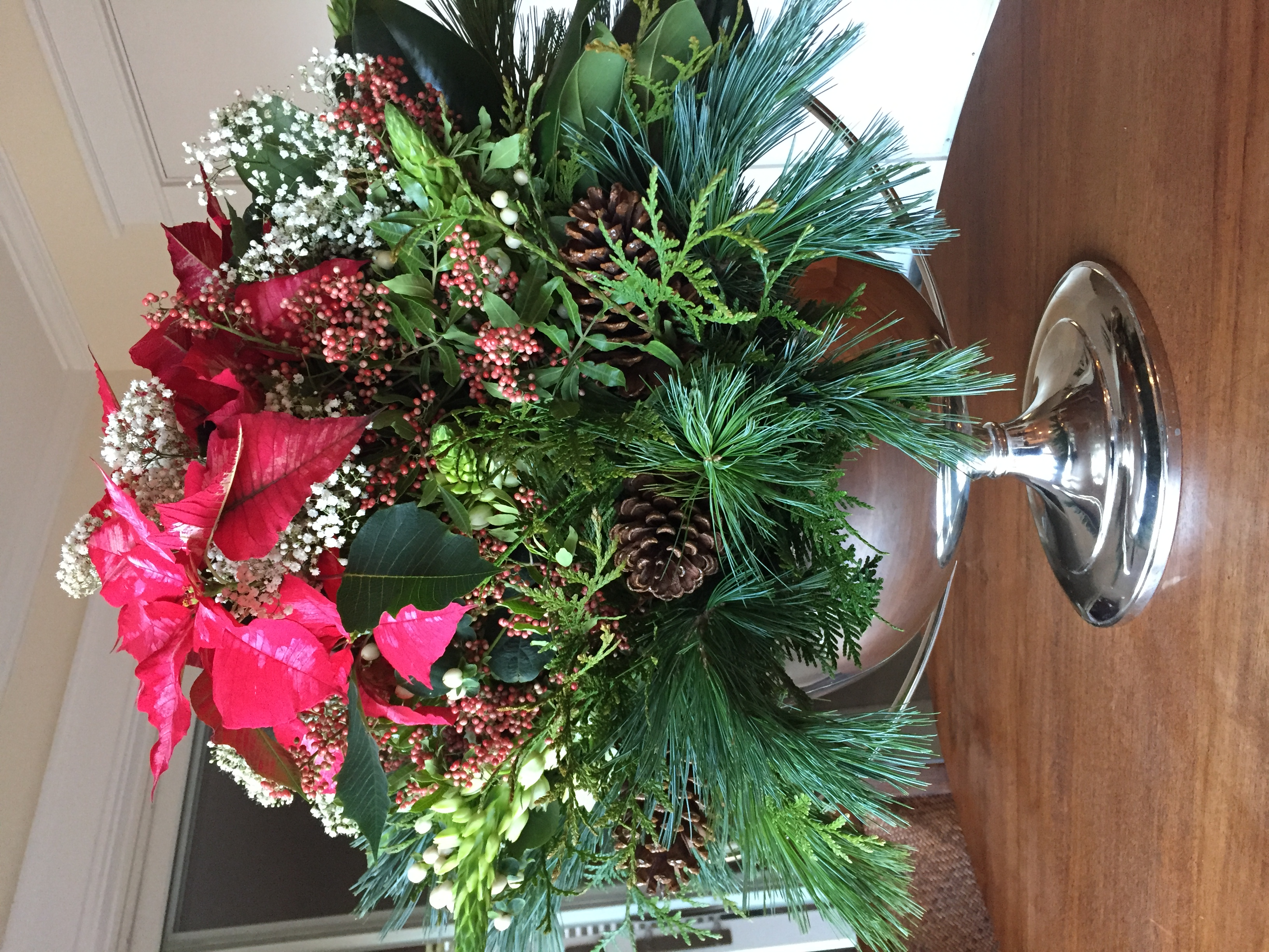 Silver Urn With Greenery