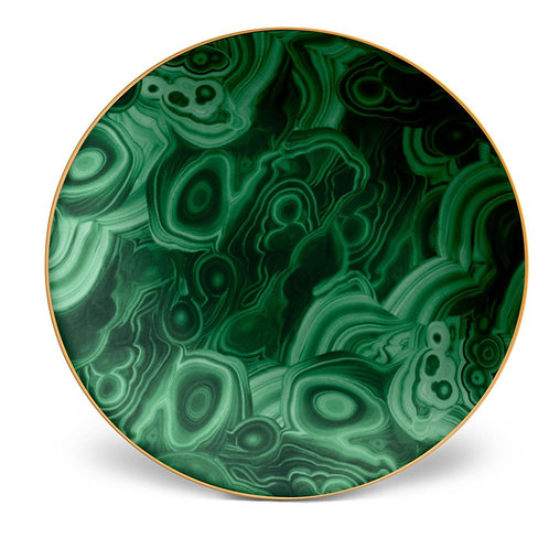 Malachite Charger Plate by L'Objet