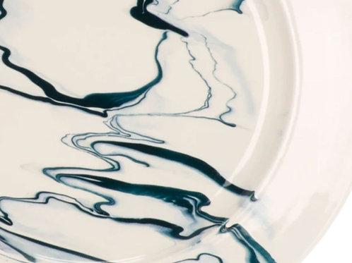 Marble Salad Plate by Christopher Spitzmiller