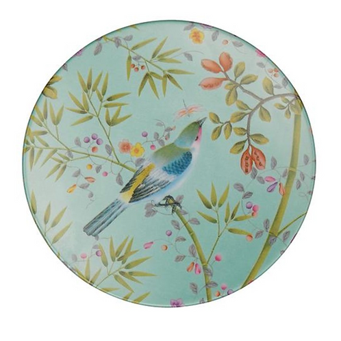 Paradis Turquoise Bread Plate By Raynaud