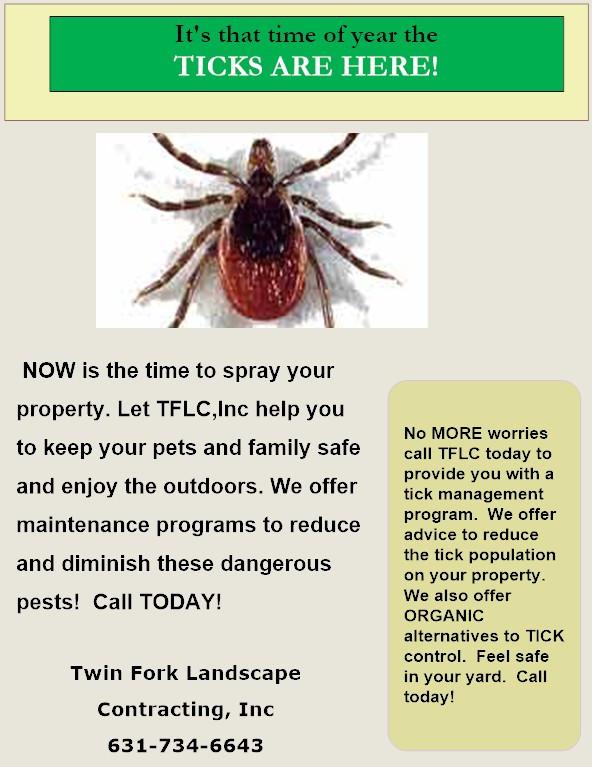 Tick Spraying TFLC Long Island