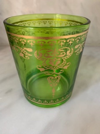 Marjana Palais Green Glasses -Set of Six