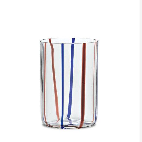 Zafferano Stripe Glass- Set of 6