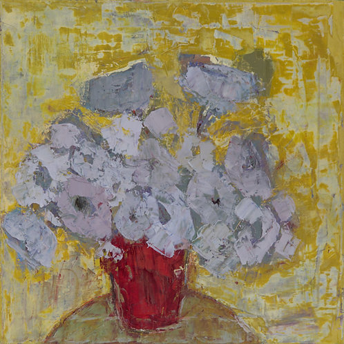 Untitled Floral 41 Painting by Bill Tansey