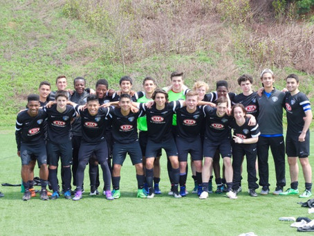 U16 Academy move to #1 in NE division of USSDA