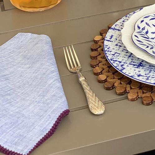Chambray Napkin with Picot Stitching