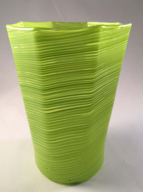 Twisted Octagonal Tumbler in Green