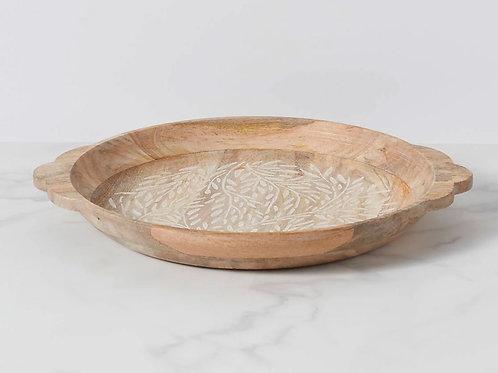 Textured Neutrals Wooden Platter