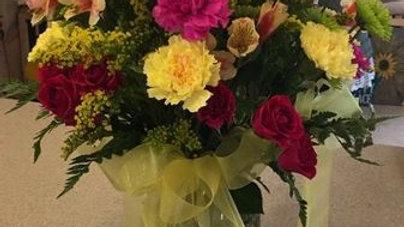 Mixed Floral Arrangement in a Vase