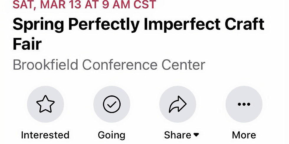 Perfectly Imperfect Craft Fair