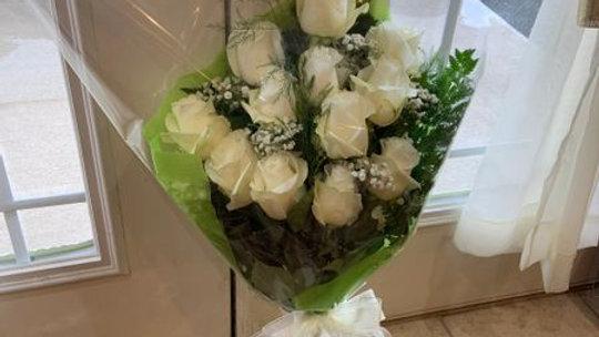 Dozen Roses- Wrapped Arm Bouquet