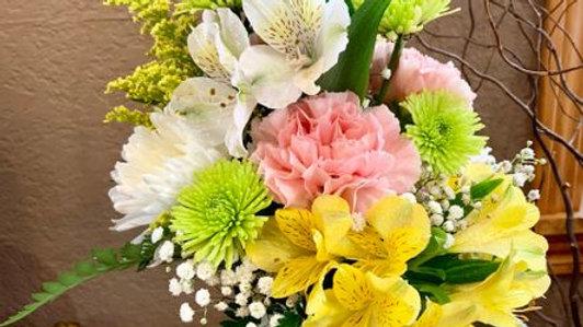 Alstroemeria Floral Mix in a Mason Jar