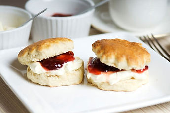 Scones with jam an clotted cream
