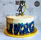 Arty Painted Buttercream Gold Drip with