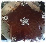 Star cake wth ganache