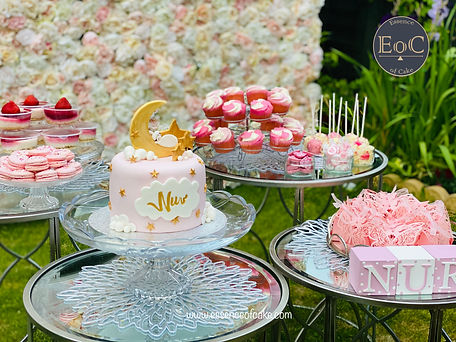 Nur's Baby Shower with Macarons and Pops