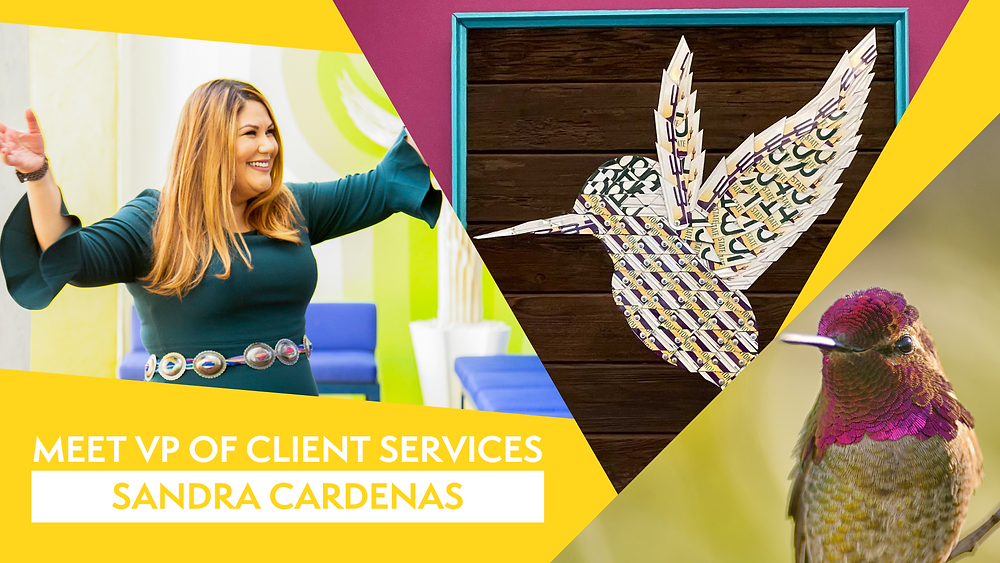 Sandra Cardenas colibri collective hummingbird client services vice president vp
