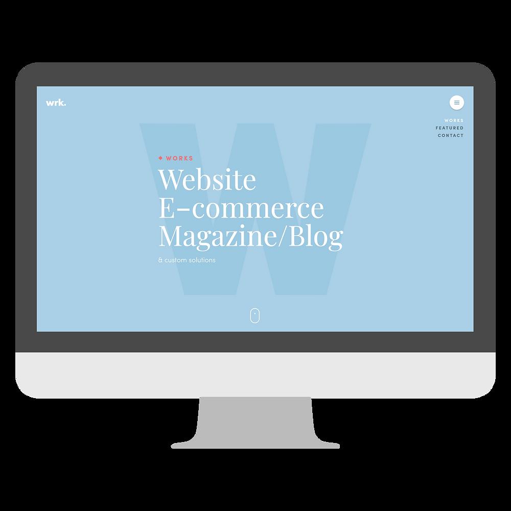 Light Color Web Design Example