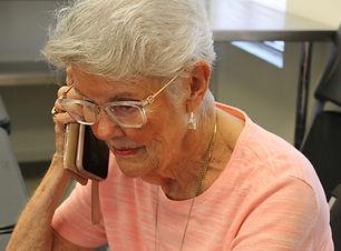 Karen on cell cl up IMG_0792 2.jpg