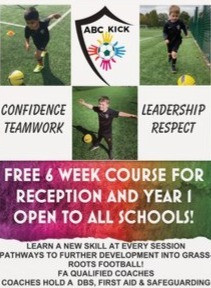 FREE 6 WEEK FOOTBALL COURSE AT YOUR SCHOOL!