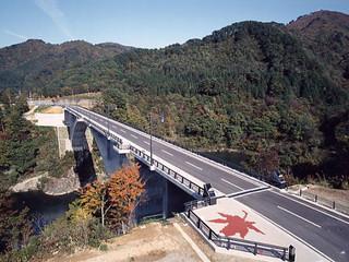 市町村道アーチ橋日本一 丸山大橋