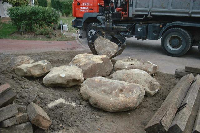 pose des rochers