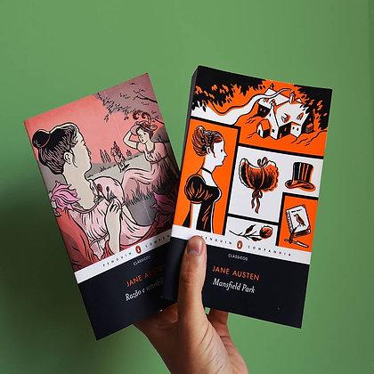 Pacotinho Jane Austen Penguin Companhia - Mansfield Park e Razão e Sensibilidade