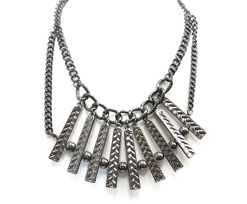 BAR PLATE NECKLACE: Model:414 SS30732