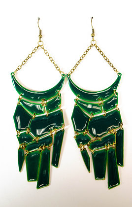 Green Plated Earrings - Model: 408 GER3416