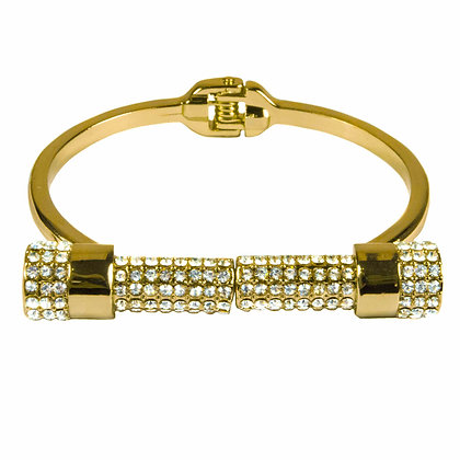 Gold Bracelet with Crystals