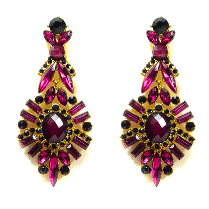 Violet Gold Earrings - TROY 100 VGE