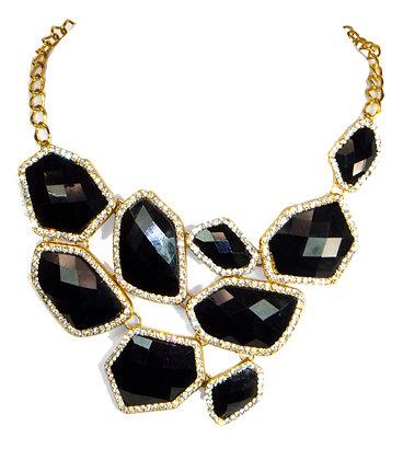 Black Stones Necklace - Model: Troy 951