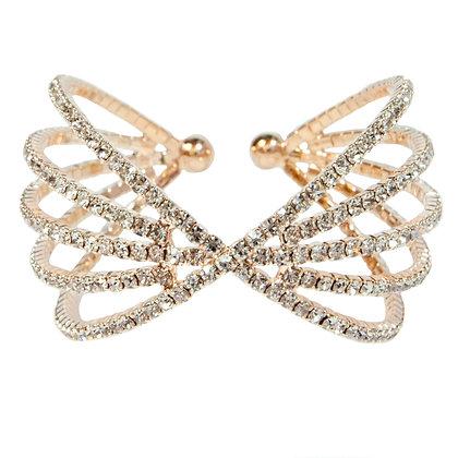 Rose Gold Rhinestoned Cuff Bracelet