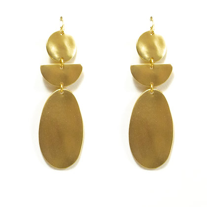 Matte Gold Plated Earrings - 74 AE30021