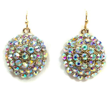 Color Changing Crystaled Circle Earrings - TROY 100 CCC