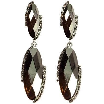 Metallic Checkered Earrings